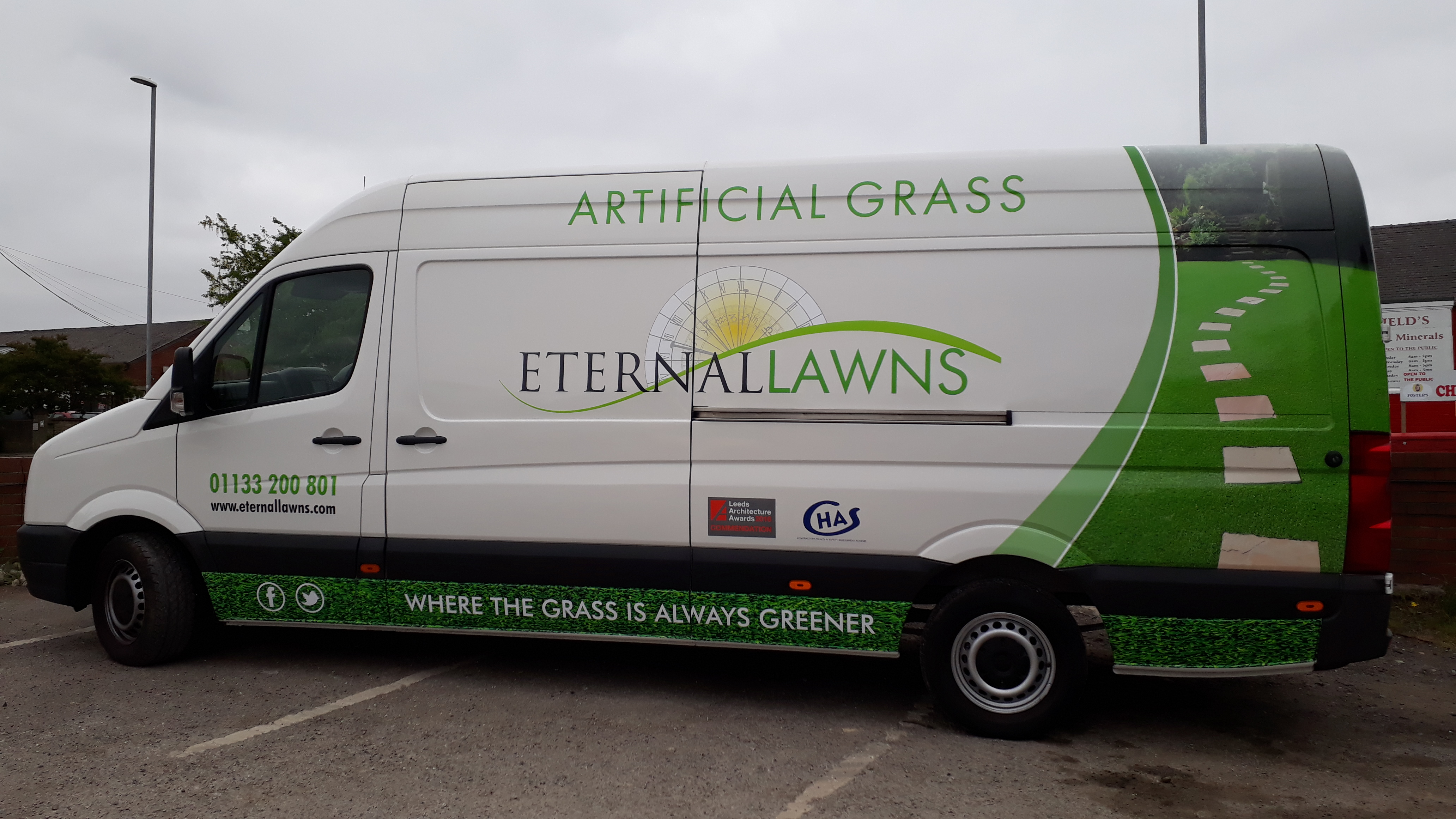side view Eternal Lawns van