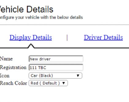 updating vehicle details