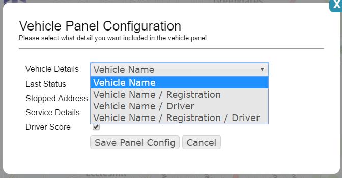 vehicle panel config