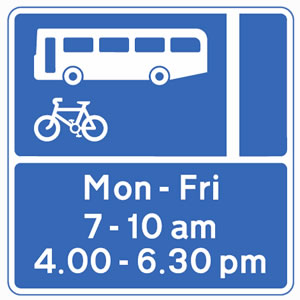 bus lane sign fleet fines