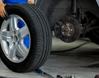 changing tyres