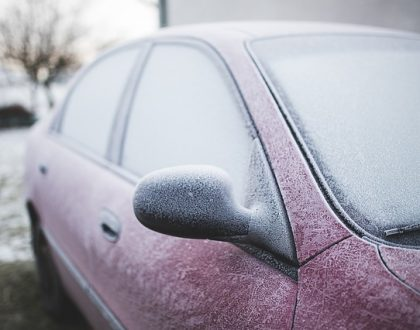iced up car need to warm up car engine
